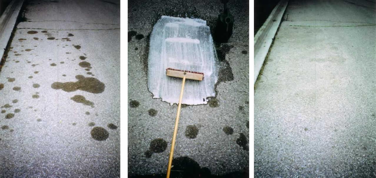 Removing rustproofing oil